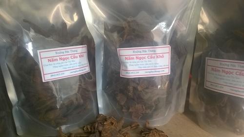 nấm ngọc cẩu khô thành phẩm